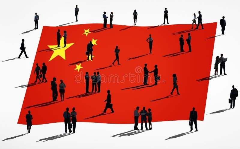Groep Globale Bedrijfsmensen: China royalty-vrije illustratie