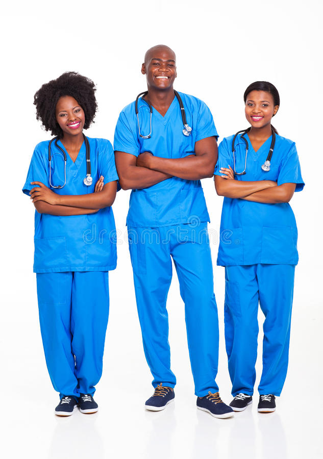 Afrikaanse medische beroeps royalty-vrije stock fotografie