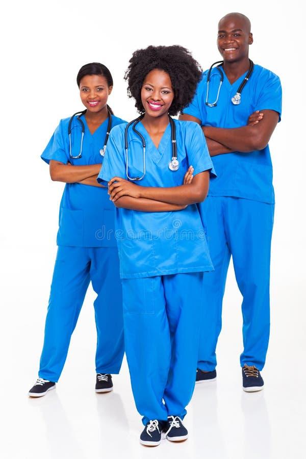 Afrikaanse het ziekenhuisarbeiders stock foto