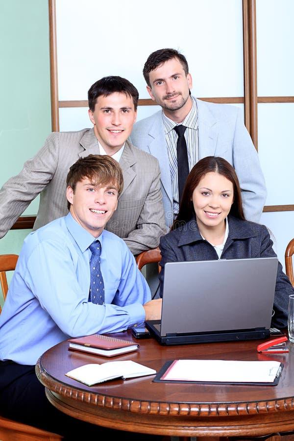 Groep in het bureau royalty-vrije stock foto's