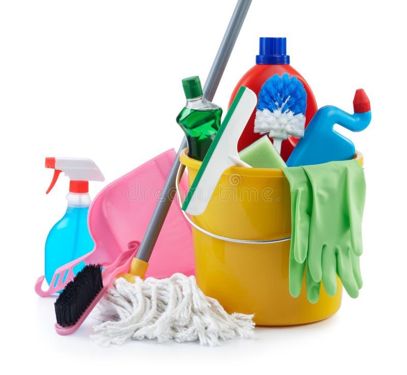 Groep het schoonmaken van producten stock fotografie