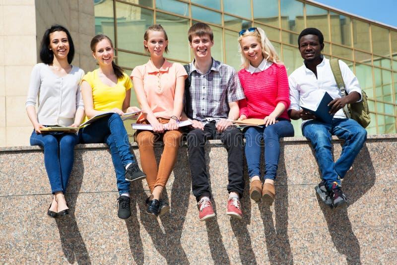Groep het universitaire studenten bestuderen stock foto