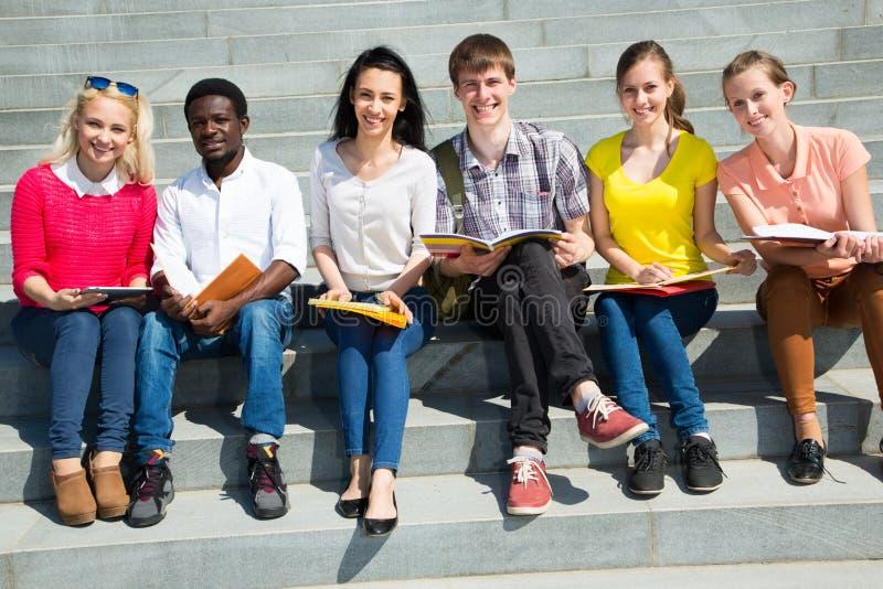 Groep het universitaire studenten bestuderen royalty-vrije stock afbeeldingen