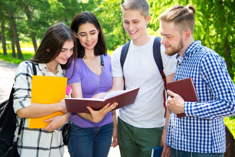 Groep het universitaire studenten bestuderen stock afbeeldingen