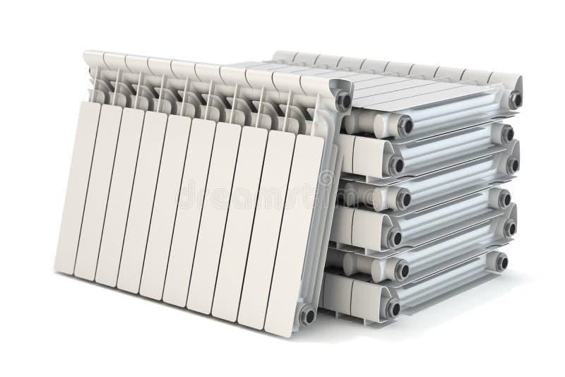 Groep het verwarmen van radiators stock illustratie
