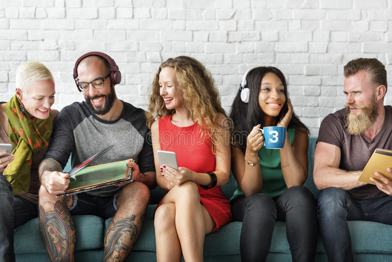 Groep Hipster-de Vakantieconcept van de Vriendenlevensstijl royalty-vrije stock afbeelding