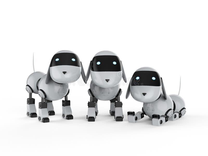 Groep hondrobots royalty-vrije illustratie