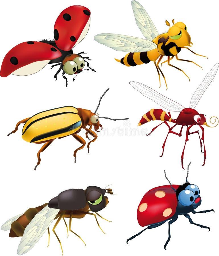 Groep insecten royalty-vrije illustratie