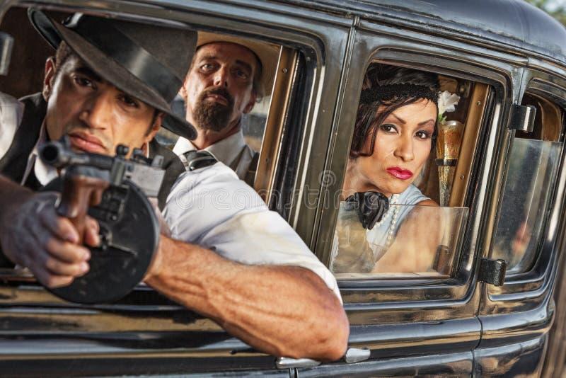 Groep jaren '20 Bewapende Gangsters stock afbeeldingen