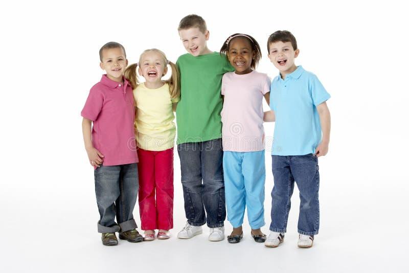 Groep Jonge Kinderen in Studio royalty-vrije stock afbeelding