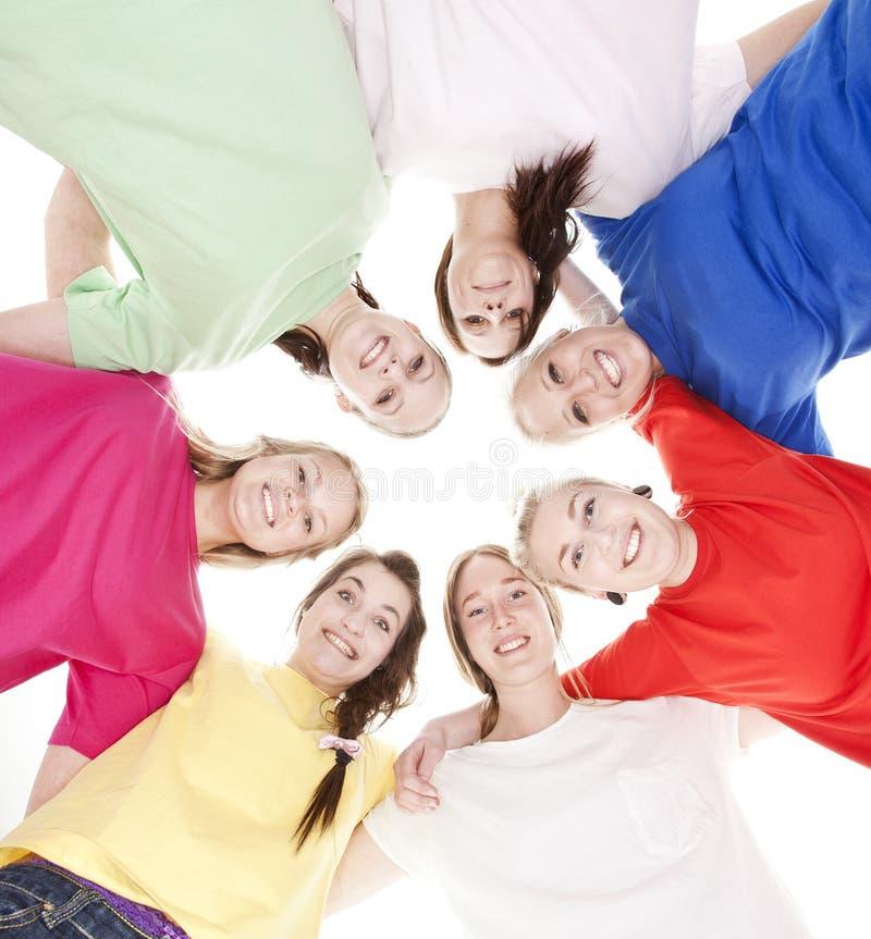 Groep Jonge Vrouwen stock afbeelding