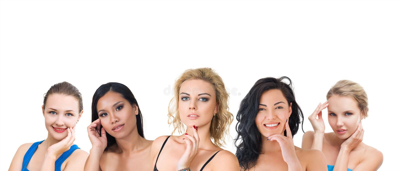 Groep jonge vrouwen royalty-vrije stock fotografie