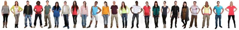 Groep jongeren die gelukkig multicultureel multi etnisch F glimlachen royalty-vrije stock foto