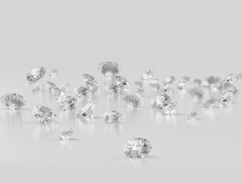 Groep kleine diamanten stock illustratie