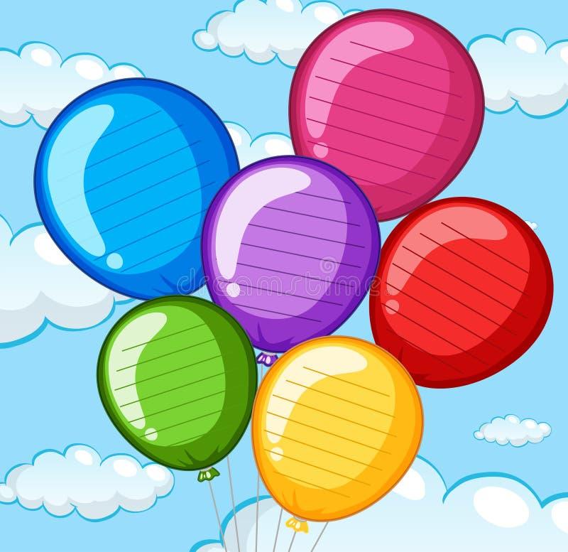 Groep kleurrijke ballons vector illustratie