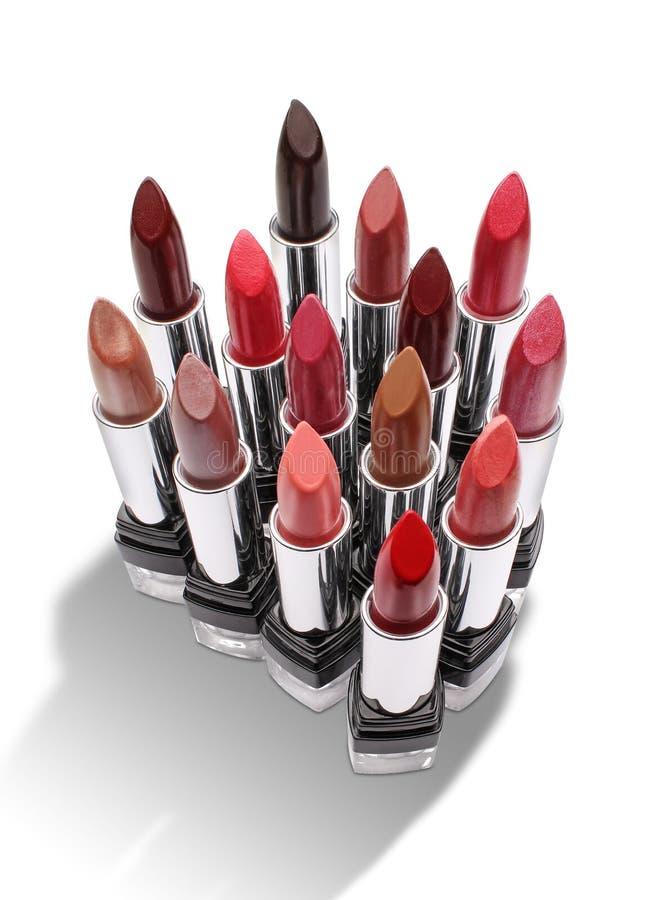 Groep kleurrijke lippenstiften royalty-vrije stock foto