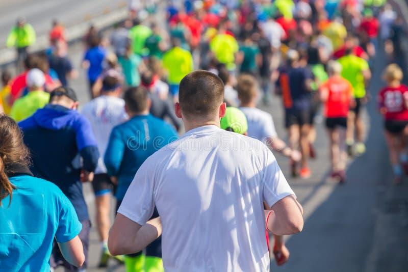 Groep marathonatleten het lopen royalty-vrije stock afbeeldingen