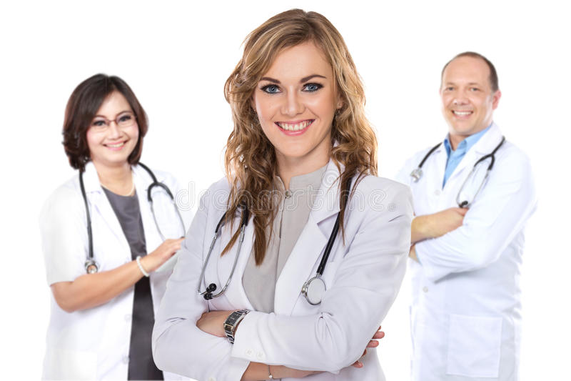 Groep medische arbeiders royalty-vrije stock afbeelding