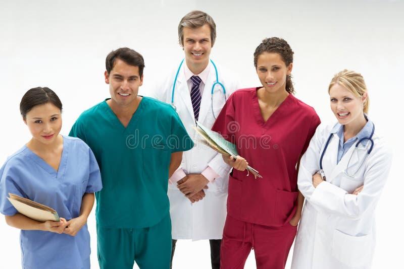 Groep medische beroeps stock afbeelding