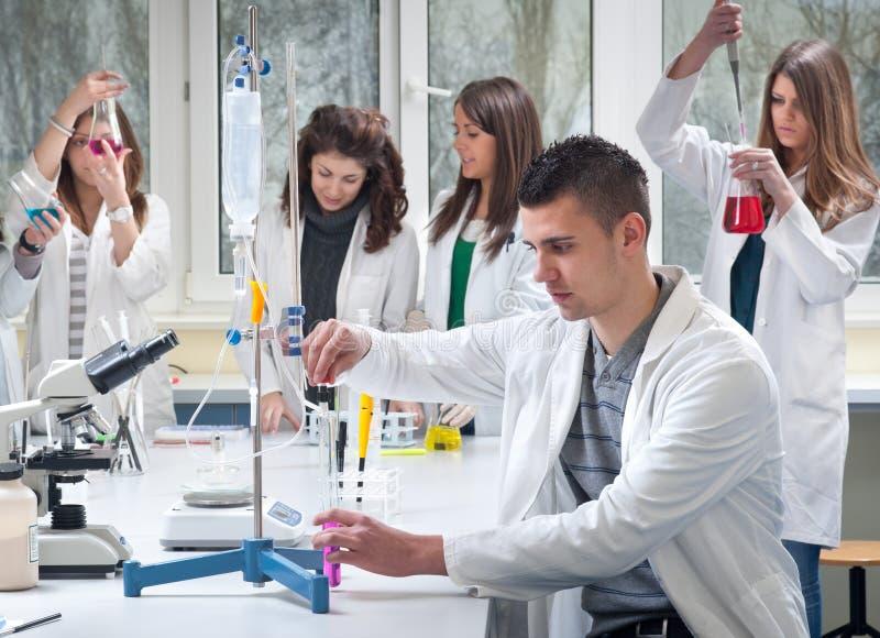 Groep medische studenten stock afbeeldingen
