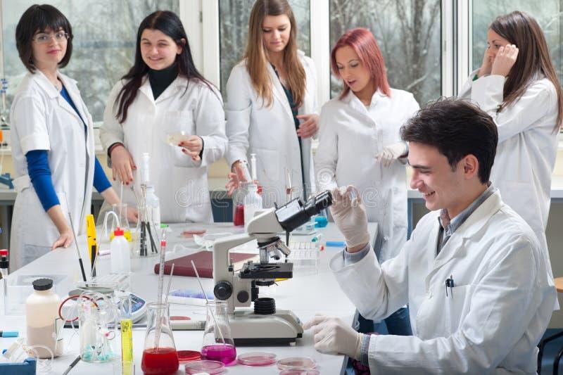 Groep medische studenten royalty-vrije stock fotografie