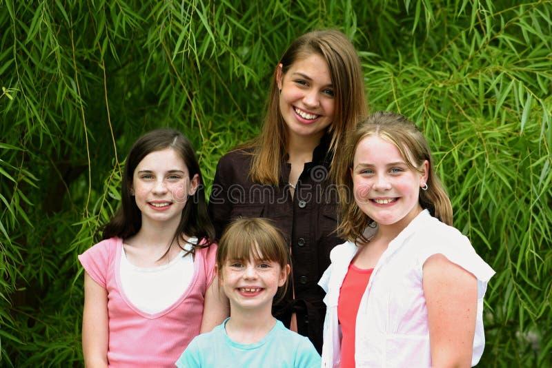 Groep Meisjes Stock Foto's