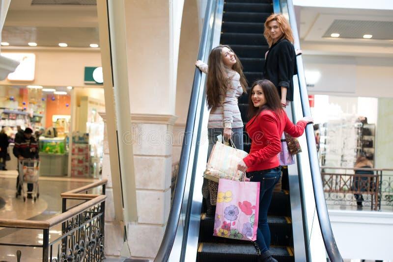 Groep meisjes stock afbeelding