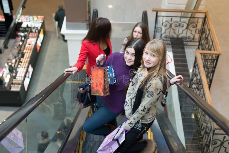Groep meisjes royalty-vrije stock afbeelding