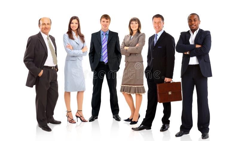 Groep of menigte van geïsoleerdt stock foto