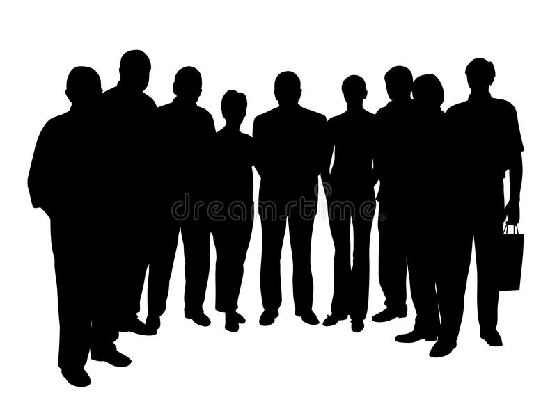 Groep mensen royalty-vrije illustratie