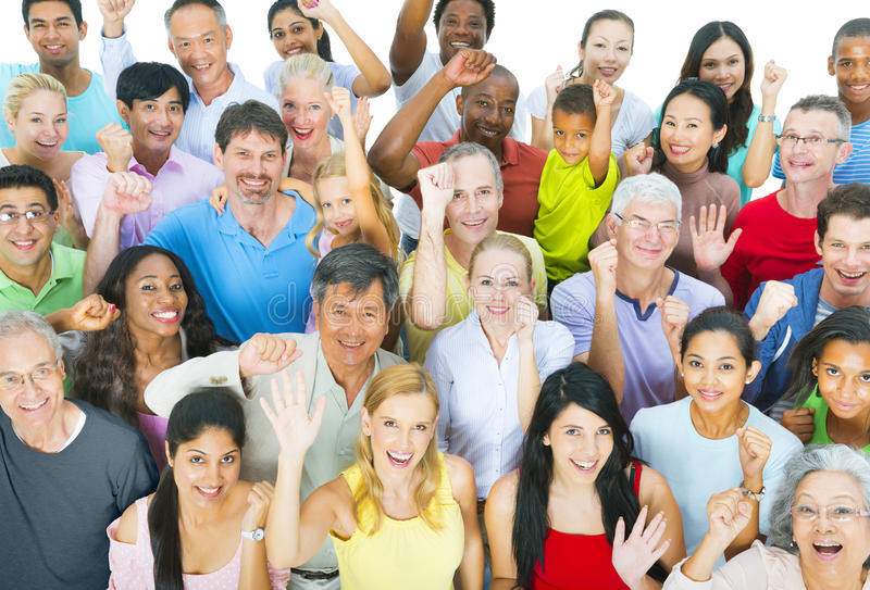 Groep Mensen het Vieren stock foto