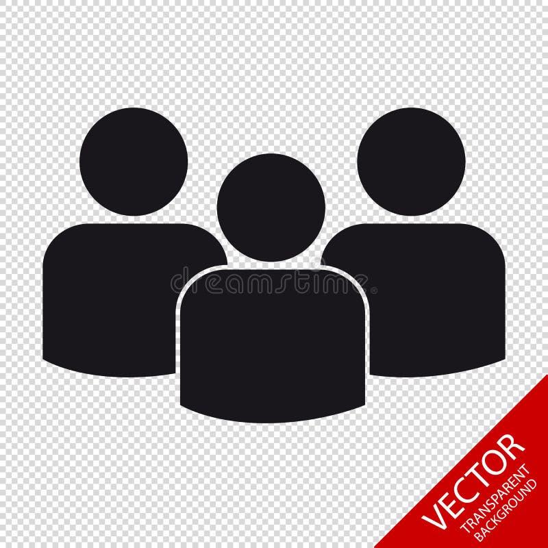 Groep Mensen - Vlak VectordiePictogram voor Apps en Websites - op Transparante Achtergrond wordt geïsoleerd vector illustratie