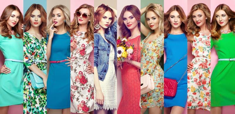 Groep mooie jonge vrouwen stock foto