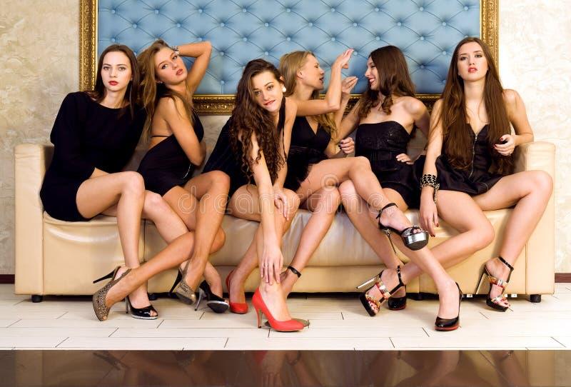 Groep mooie modellen royalty-vrije stock afbeeldingen