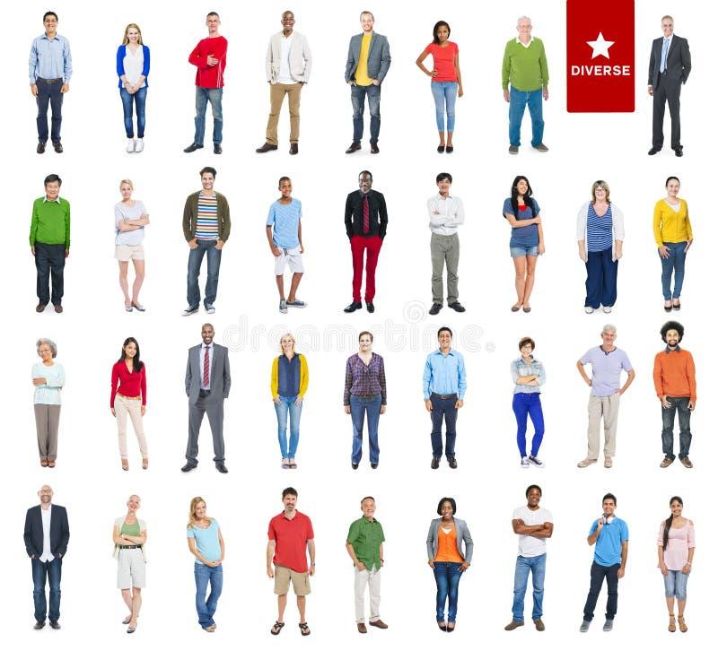 Groep Multi-etnische Diverse Kleurrijke Mensen stock foto's