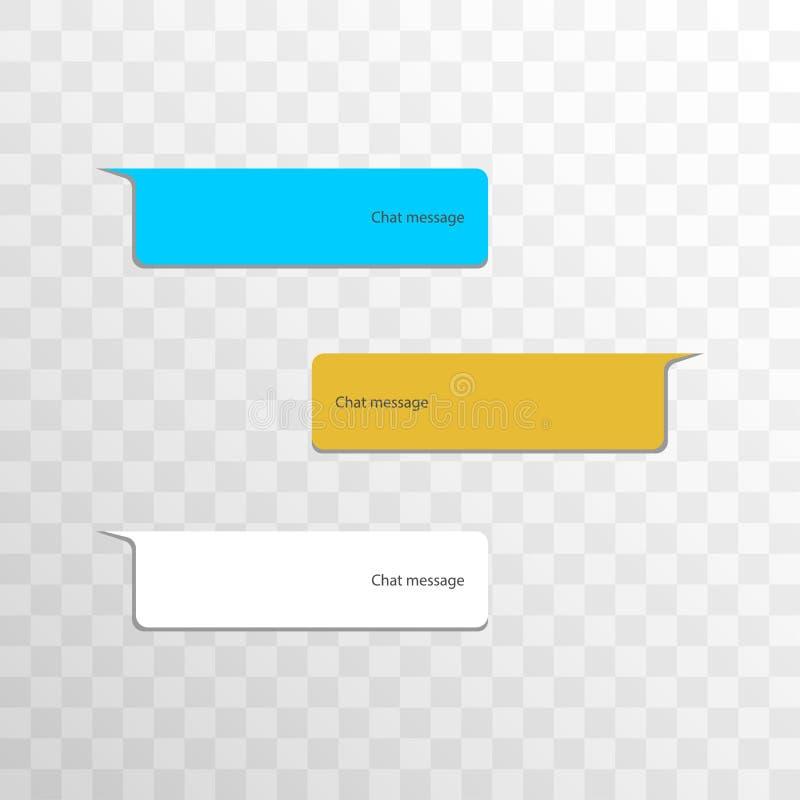 Groep objecten interface van het de bellen de sociale netwerk van het variatiepraatje Bericht in multicolored ballons met schaduw vector illustratie