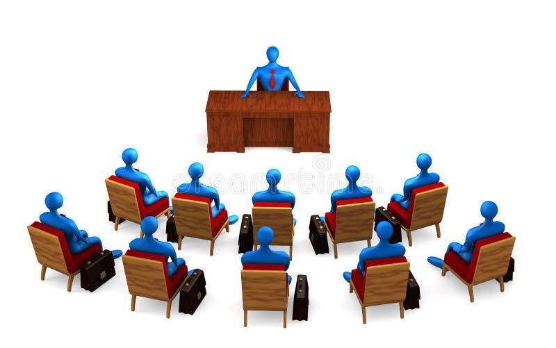 Groep personen op de briefing royalty-vrije illustratie