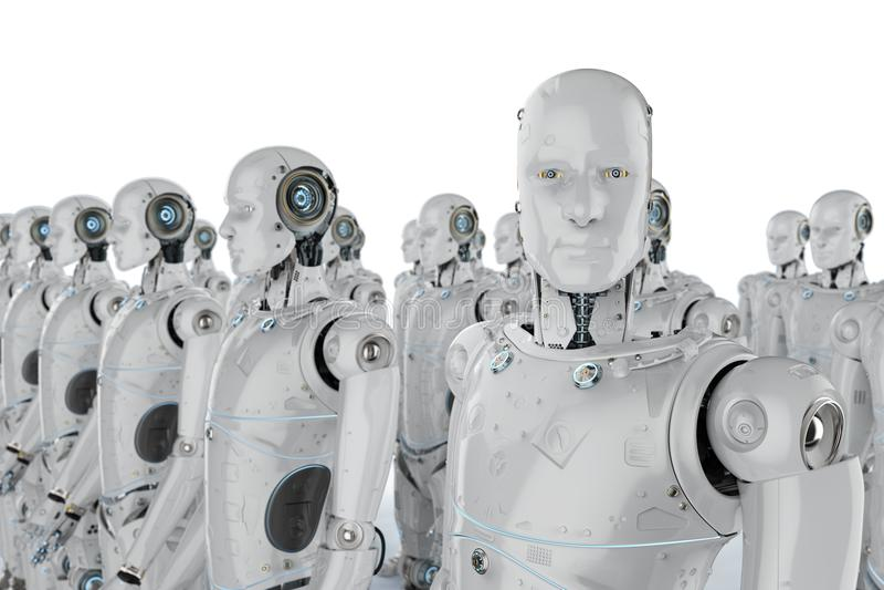 Groep robots royalty-vrije illustratie