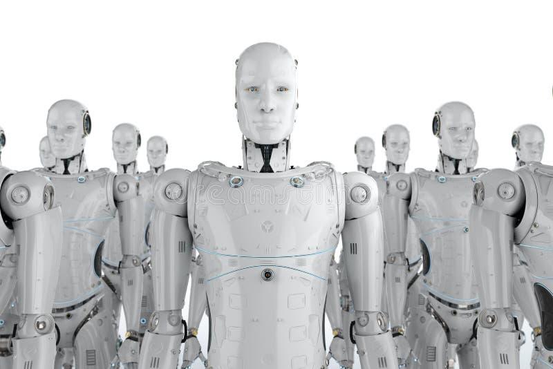 Groep robots vector illustratie