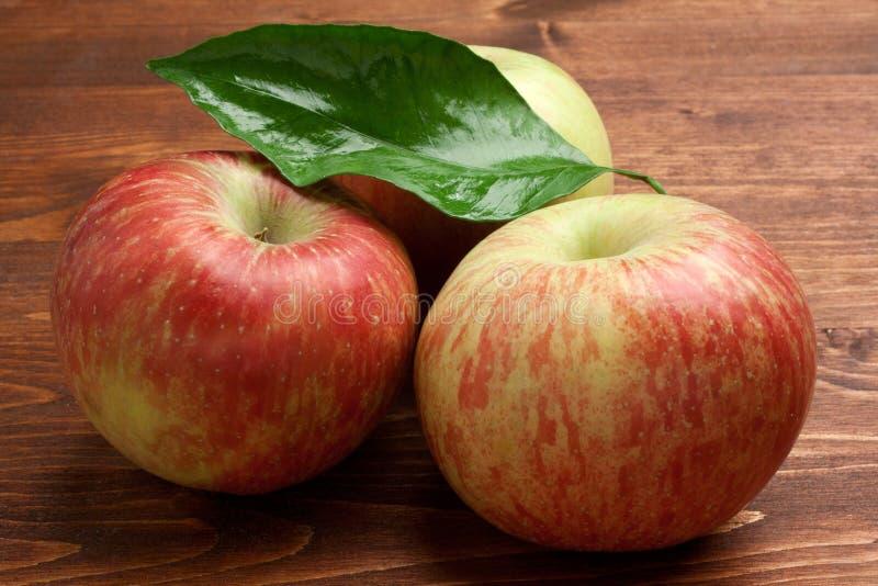 Groep rode appelen royalty-vrije stock afbeelding