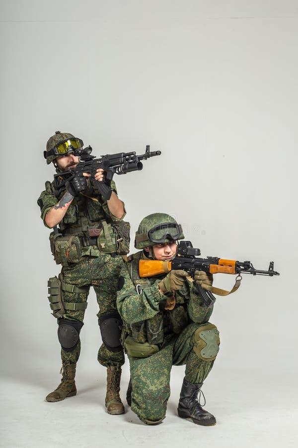 Groep Russische militairen royalty-vrije illustratie