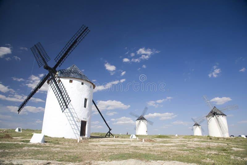 Groep Spaanse molens royalty-vrije stock fotografie