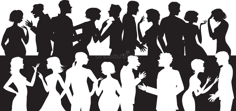 Groep sprekende mensen royalty-vrije illustratie