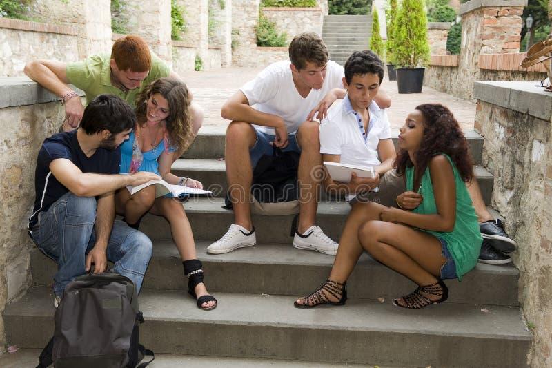 Groep Studenten stock fotografie