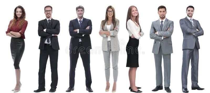 Groep succesvolle bedrijfsmensen die zich op een rij bevinden royalty-vrije stock afbeelding