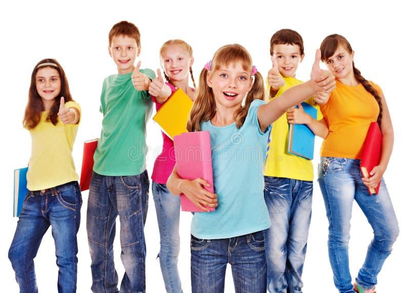 Groep tienermensen. stock afbeeldingen