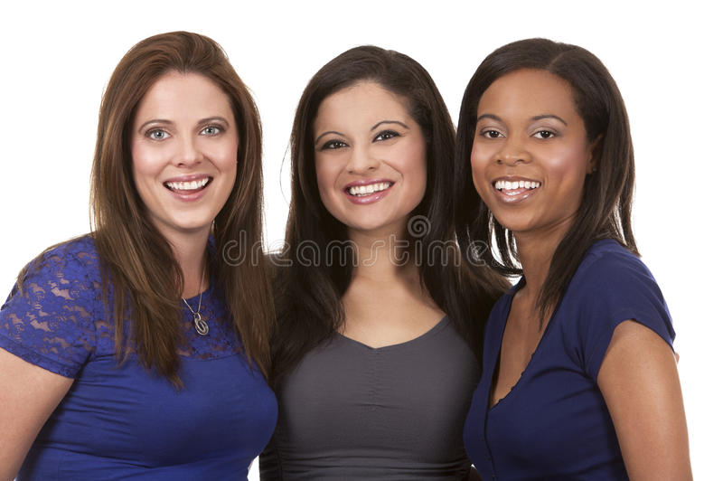 Groep toevallige vrouwen stock foto's