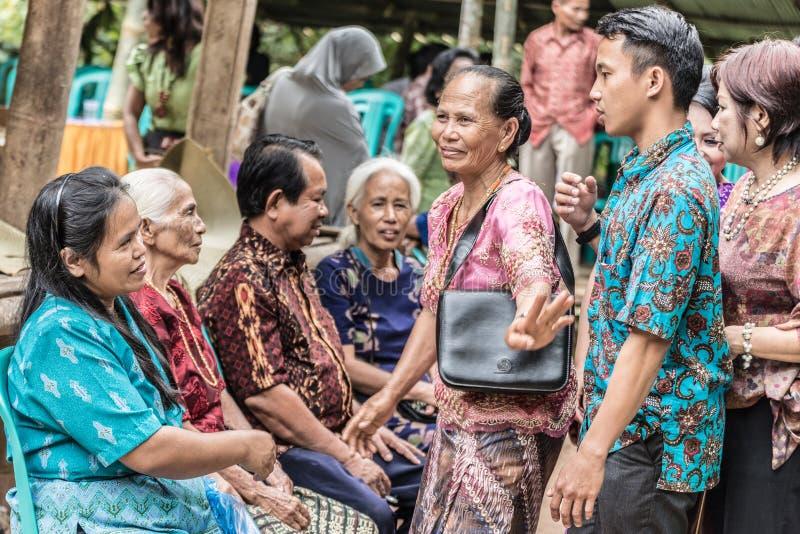 Groep Toraja-Mensen, gefiltreerd beeld stock fotografie