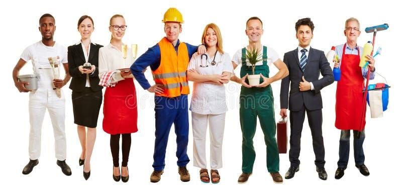 Groep vele beroepen voor baancentrum royalty-vrije stock foto's