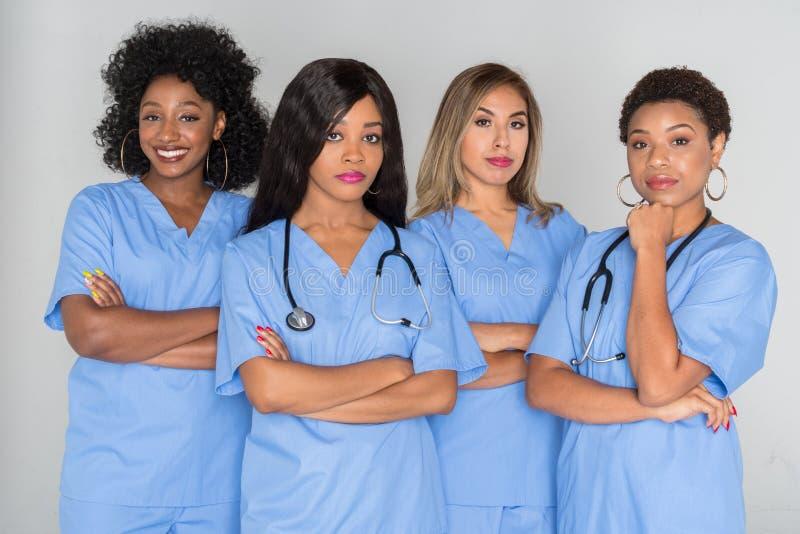 Groep Verpleegsters royalty-vrije stock afbeeldingen